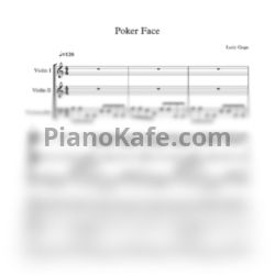 Ноты Lady Gaga - Poker face (String trio) - PianoKafe.com