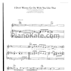 Ноты Elton John - I don't wanna go on with you like that - PianoKafe.com