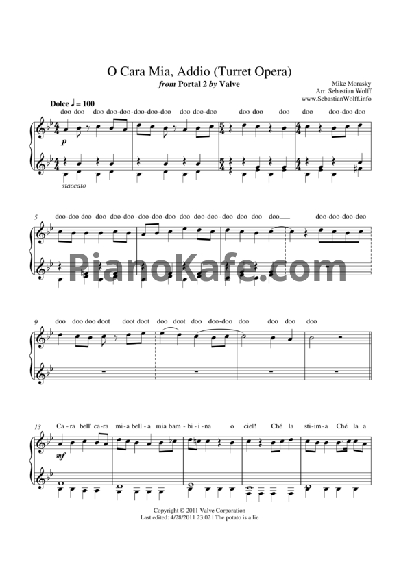 : Turret Opera Sheet Music Piano At Alzheimers-prions.com