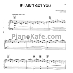 Ноты Alicia Keys - If I ain't got you - PianoKafe.com