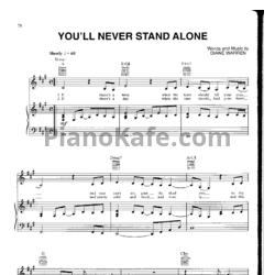 Ноты Whitney Houston - You'll never stand alone - PianoKafe.com