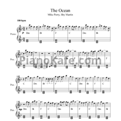 Ноты Mike Perry & Shy Martin - The ocean - PianoKafe.com